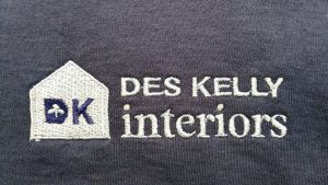 Embroidery design Logo for Des Kelly